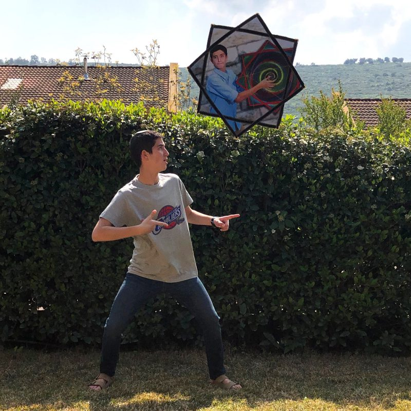 Juggling Spinning Cloth with Own Photo